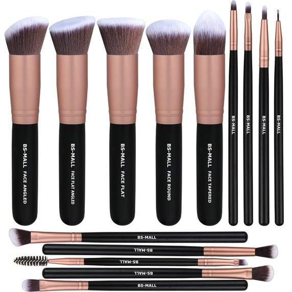 Rose Gold Makeup Brushes on Amazon