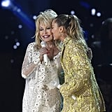 Miley Cyrus Outfit During Dolly Parton Tribute 2019 Grammys