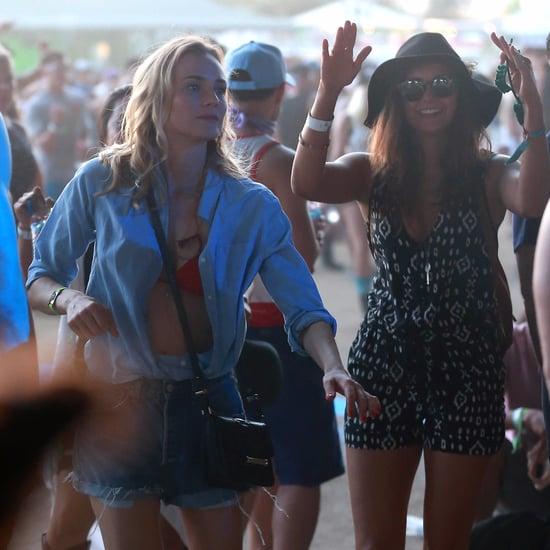 Celebrities Dancing at Coachella 2015 Pictures