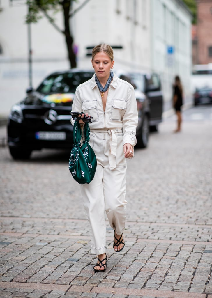 077fe33a76 Go for a utilitarian look with a white jumpsuit.