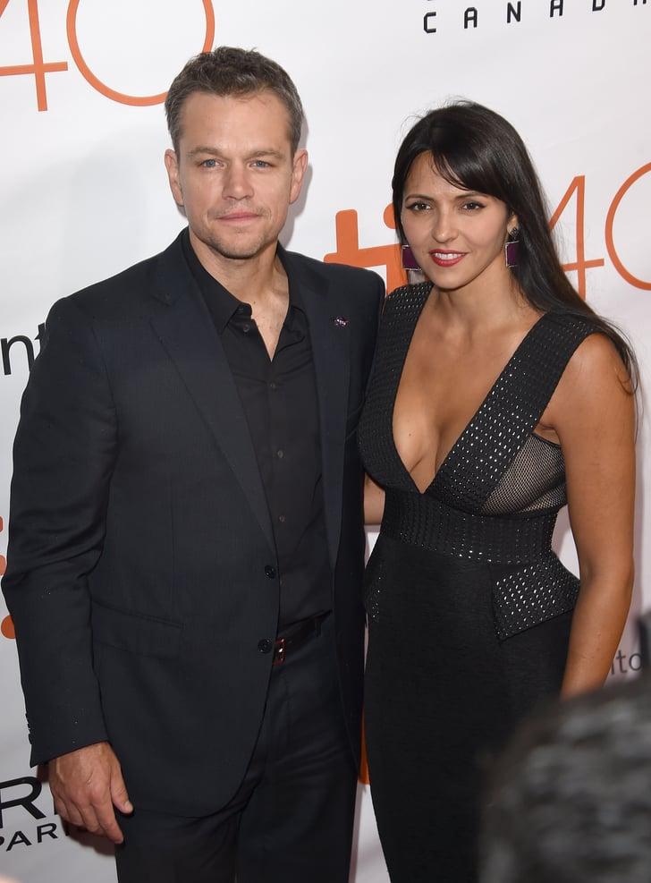 Matt Damon and Luciana...