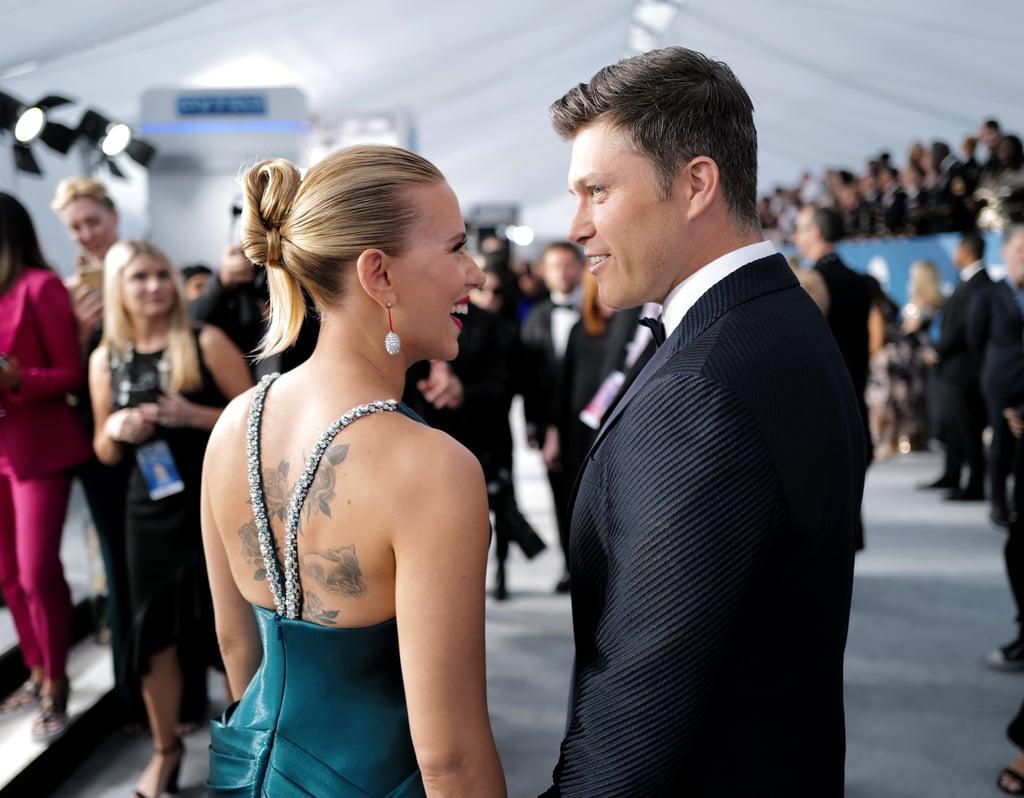 Scarlett Johansson and Colin Jost at the 2020 SAG Awards