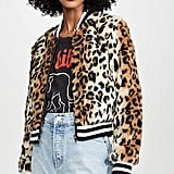 Jack Cat Power Leopard Faux Fur Bomber