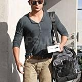 Zac Efron Spotted Leaving Ex Vanessa's House in LA