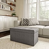 Large Foldable Storage Bench Ottoman