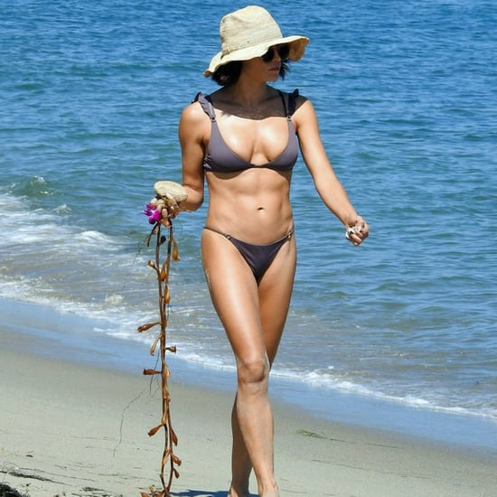 Jenna Dewan Gray Bikini With Ruffle Sleeves 2018