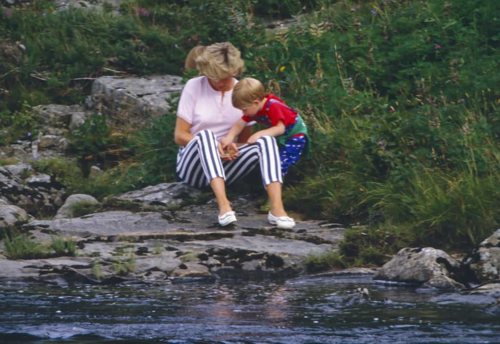 Harry and Diana on the banks of the River Dee