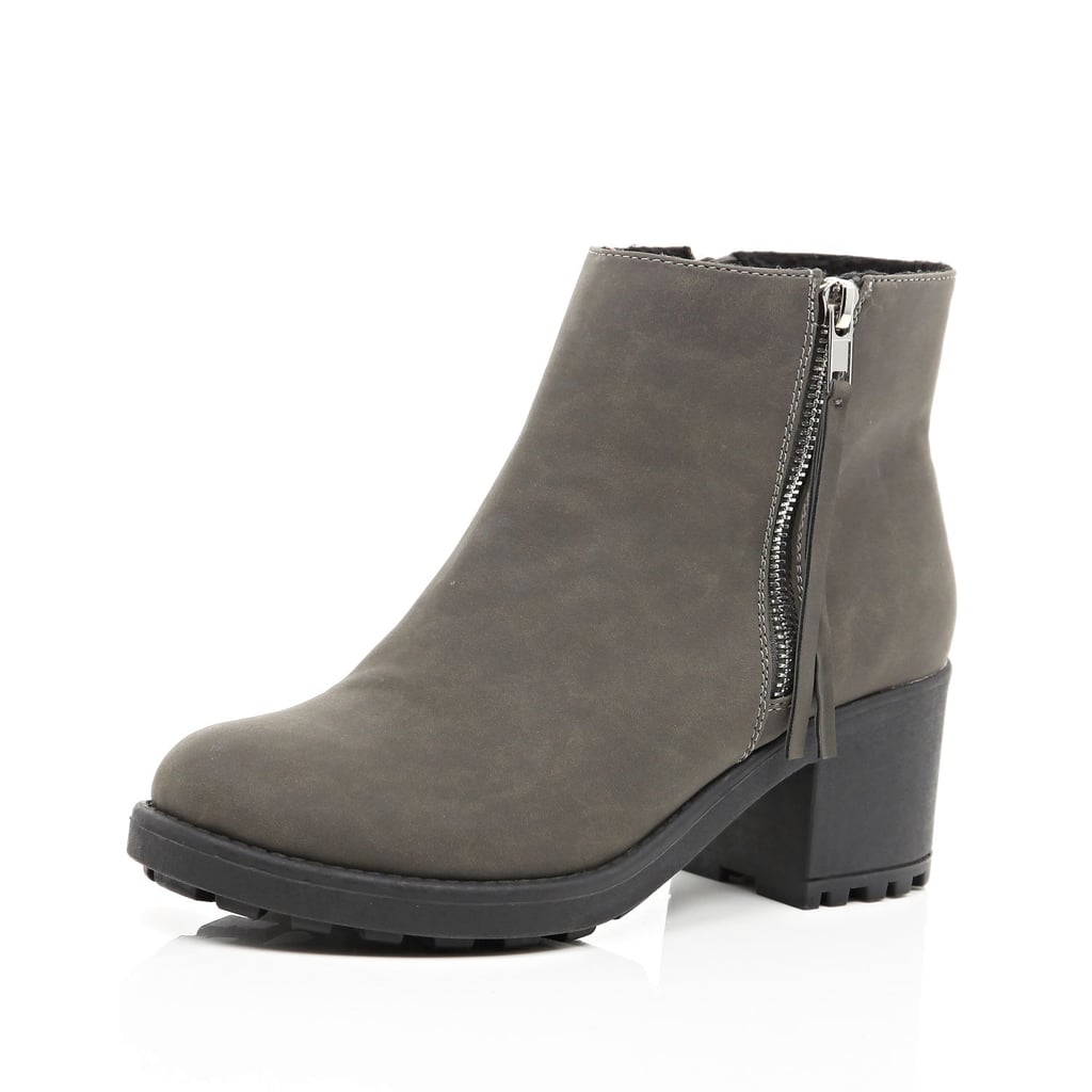 River Island Grey Ankle Boots