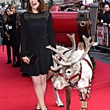 Jodie Whittaker was accompanied by a reindeer to the premiere of Get Santa. We're still awaiting confirmation if it's Rudolph.