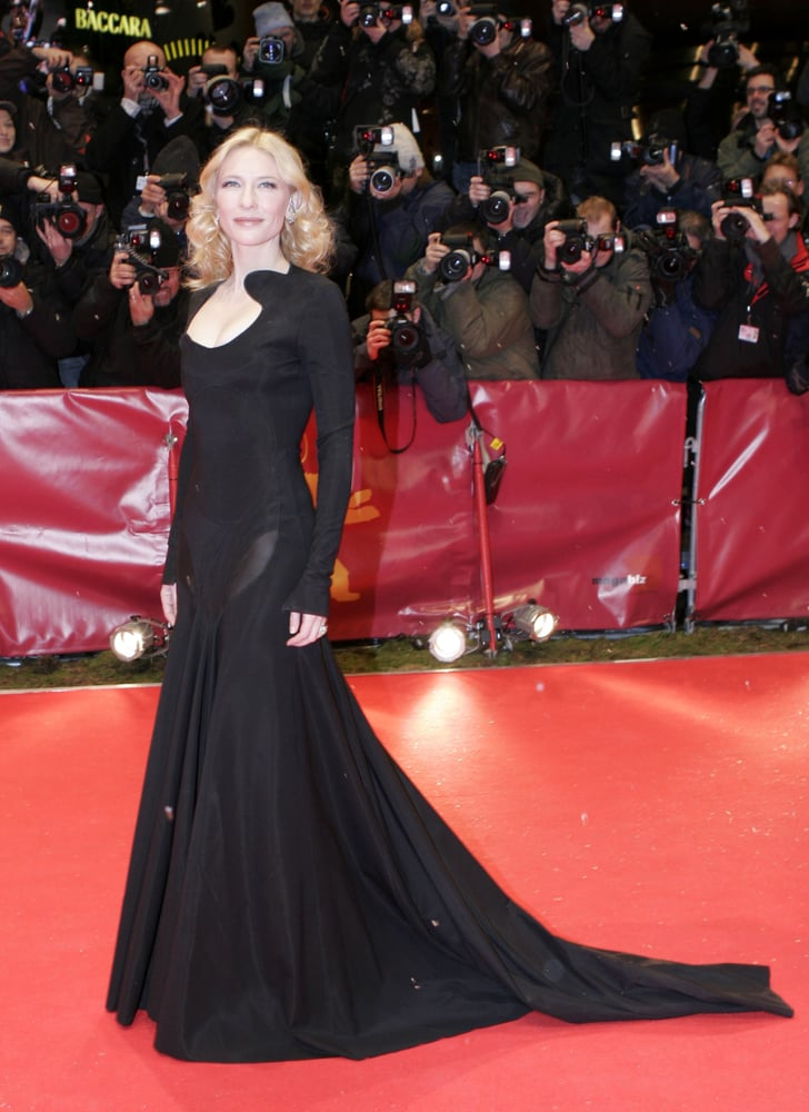 cate blanchett in a dramatic black gown at the 2007 berlin