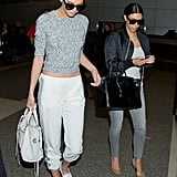 Kendall Jenner and Kim Kardashian are known for making a stylish arrival wherever they go — the airport was no different, where both fashion pros gave us plenty of style ammo. The biggest lesson? Never travel without your shades.