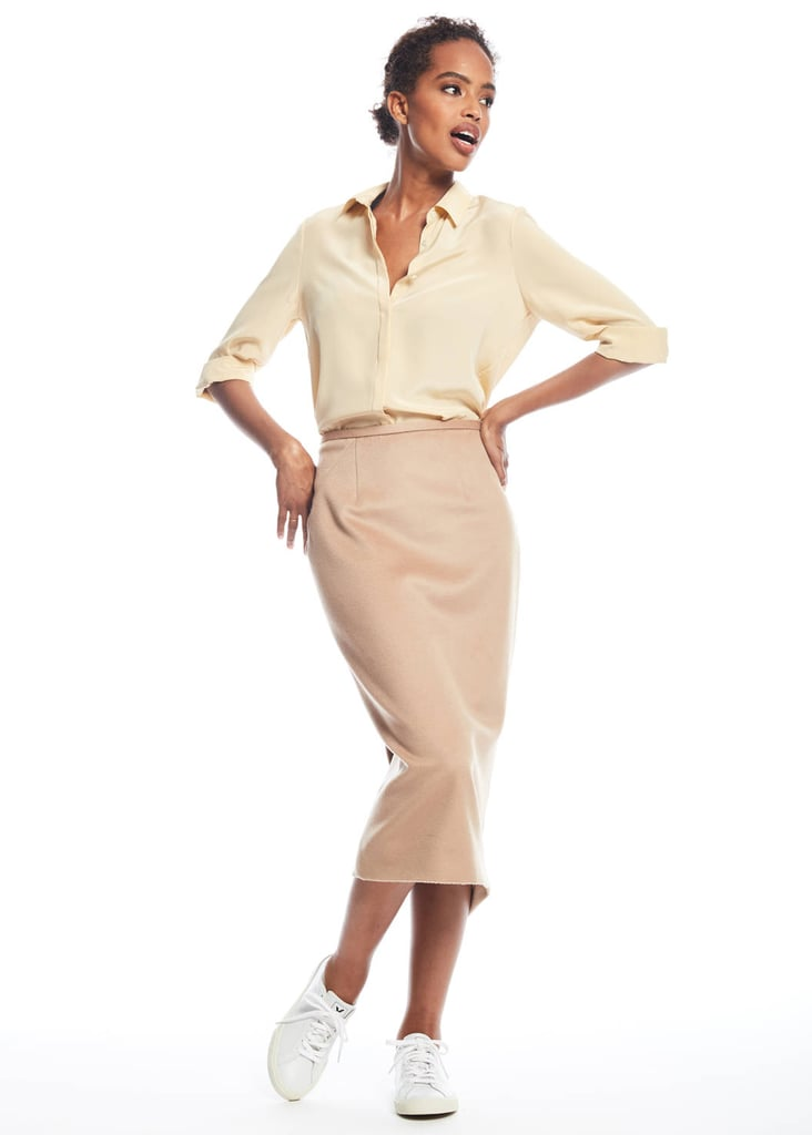 Zady Camel Pencil Skirt ($185)