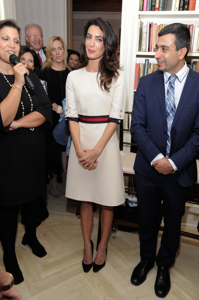 Amal Clooney Gucci Dress at Women in the World Event