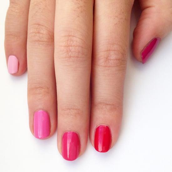 DIY Pink Ombre Nail Art