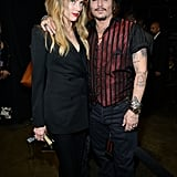 Pictured: Johnny Depp and Amber Heard
