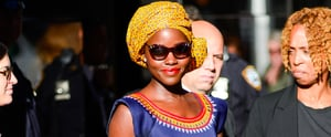 Lupita Nyong'o's Stylist Talks to Us All About Those Amazing Headwraps the Actress Is Wearing on Tour