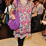 I love the way this Mulberry bag clashes with Jasmine Guinness' dress. Very cool.