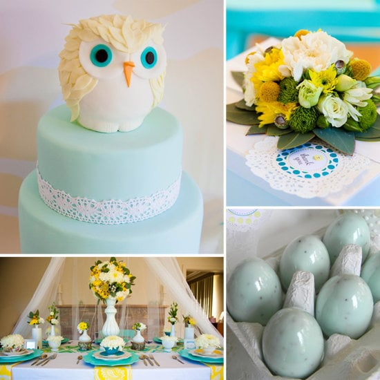 A Flower- and Owl-Filled Baby Shower