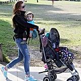 Isla Fisher enjoyed Sydney with daughter Elula Cohen.