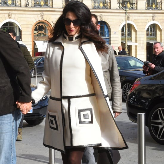 Amal Clooney William Vintage Suit in Paris Feb. 2017