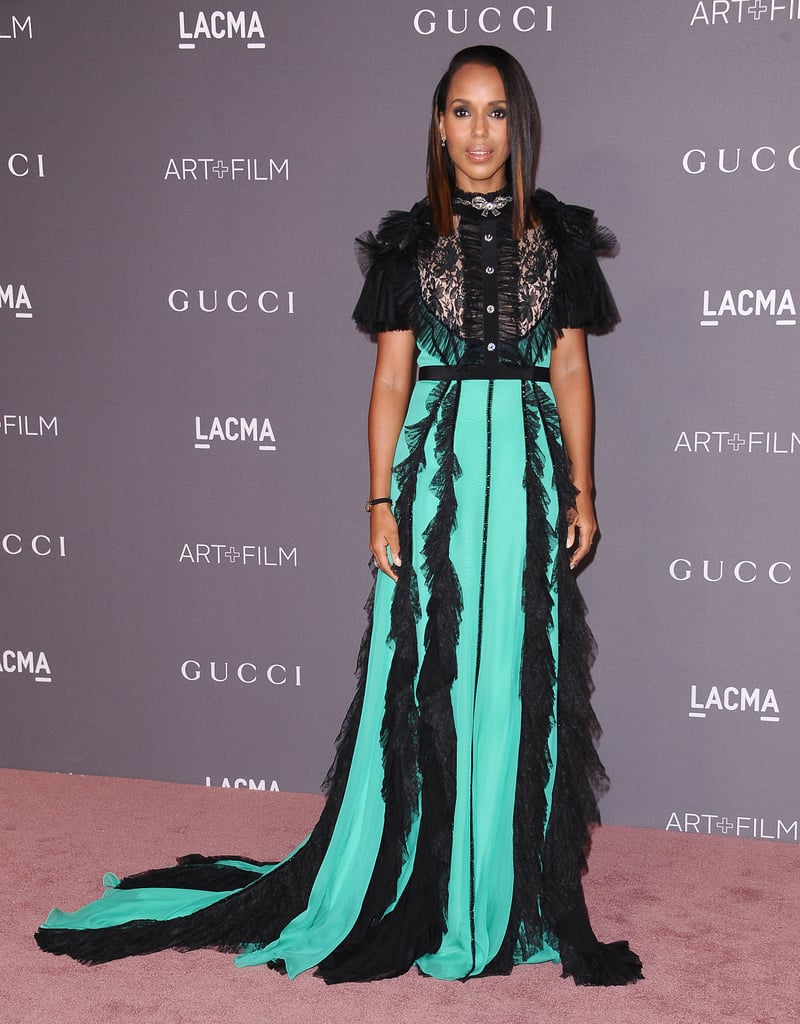 Kerry Was Officially the Queen of Print Mixing at the 2017 LACMA Art + Film Gala