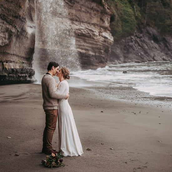 Adventurous Waterfall Elopement at Mystic Beach