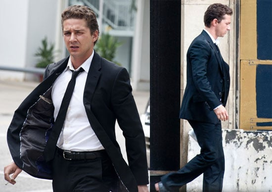 Pictures of Shia LaBeouf Shooting Transformers 3 in Chicago