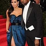 Kim Kardashian and Kanye West at 2014 Met Gala