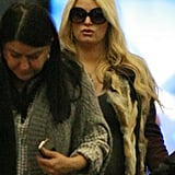 Pregnant Jessica Simpson Wraps Up a Party Weekend With Ashlee