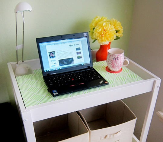 Upcycle Your Changing Table Into a Minidesk