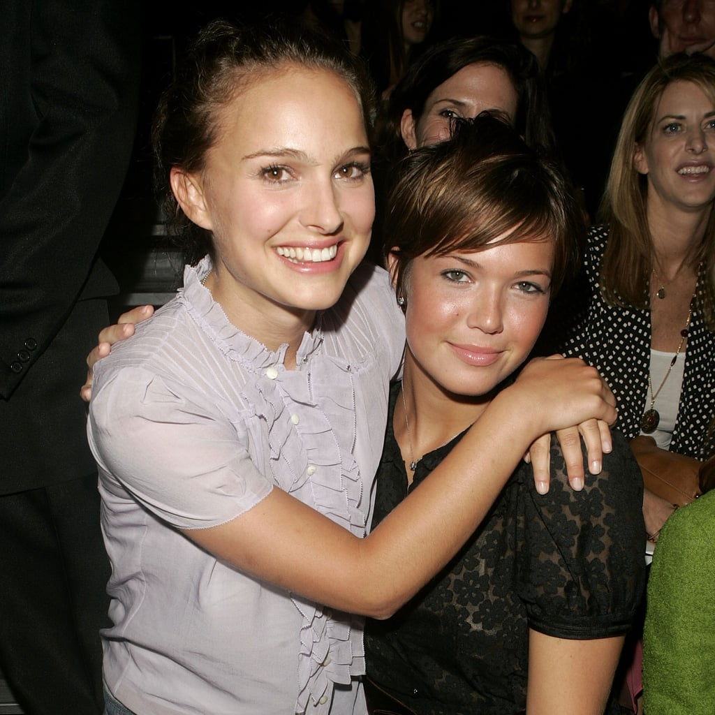Natalie Portman and Mandy Moore were front and centre at the Marc Jacobs show in September 2004.