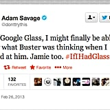Adam Savage of MythBusters contemplates the possibility of a supernatural Google Glass.