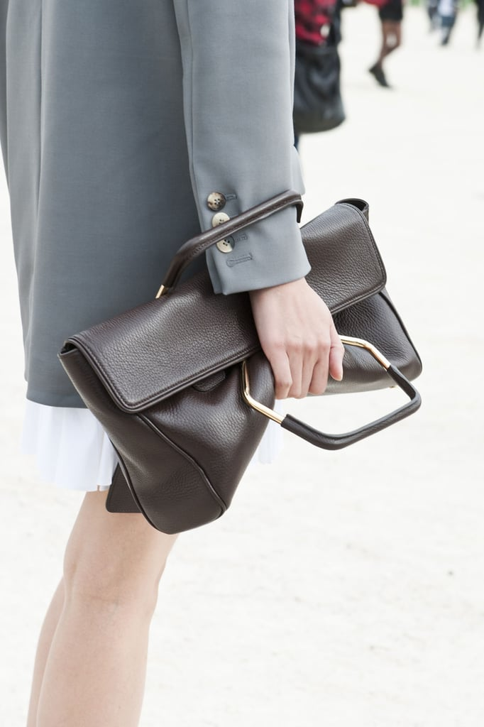 Even when it's not a clutch, the clutch is still the bag of choice at Paris Fashion Week.
