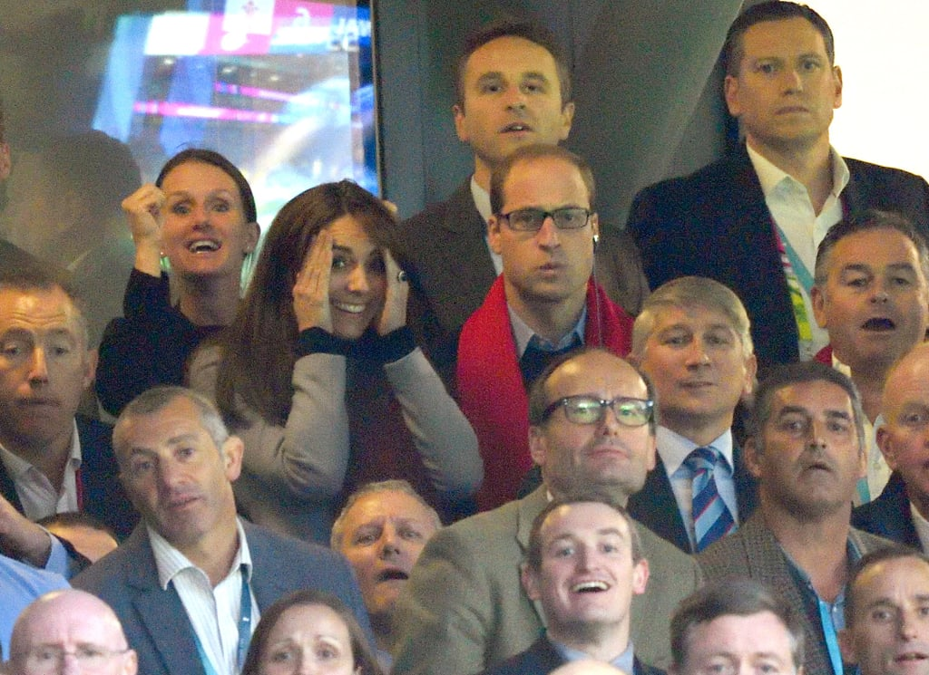 """The Duchess of Cambridge put on quite the show when she and Prince William attended the Rugby World Cup in London on Saturday. The royal couple sat together in the stands and attentively took in the match, but the real highlight was Kate's less """"princessy"""" facial expressions. Whether she was biting her nails or cringing and covering her eyes, Kate did not hold back, showing us just how much she really loves sports. Earlier in the day, the Duke and Duchess of Cambridge stepped out to meet with young people who have suffered from mental health issues in honour of World Mental Health Day. Read on to see all of Kate's epic faces, then check out the best pictures of the British royals this year."""