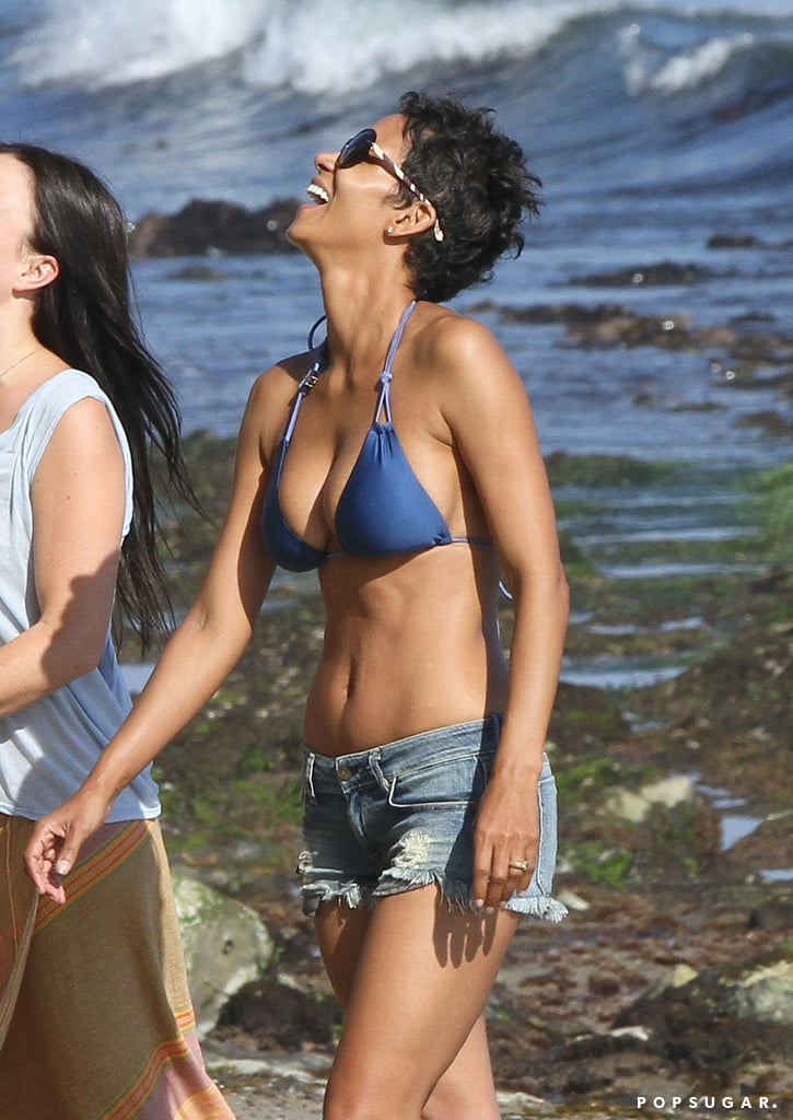 She was all smiles during a Malibu beach day in September 2012.