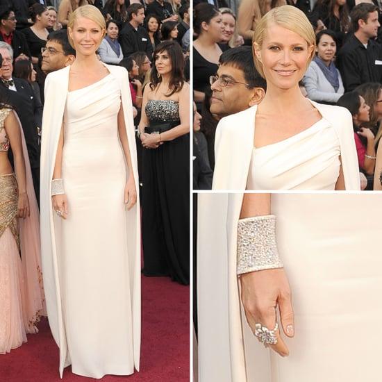 Gwyneth Paltrow in White at Oscars 2012