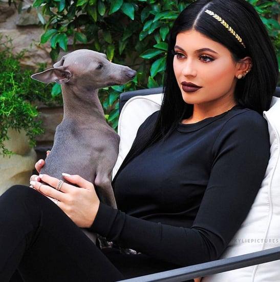 Kylie Jenner Wearing Hair Tattoos