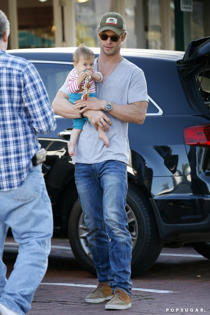 Chris Hemsworth carried India out of lunch in LA.