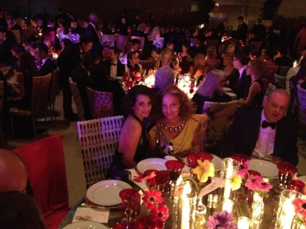 Lea Michele felt very lucky to be seated with Diane von Furstenberg. Source: Twitter User msleamichele