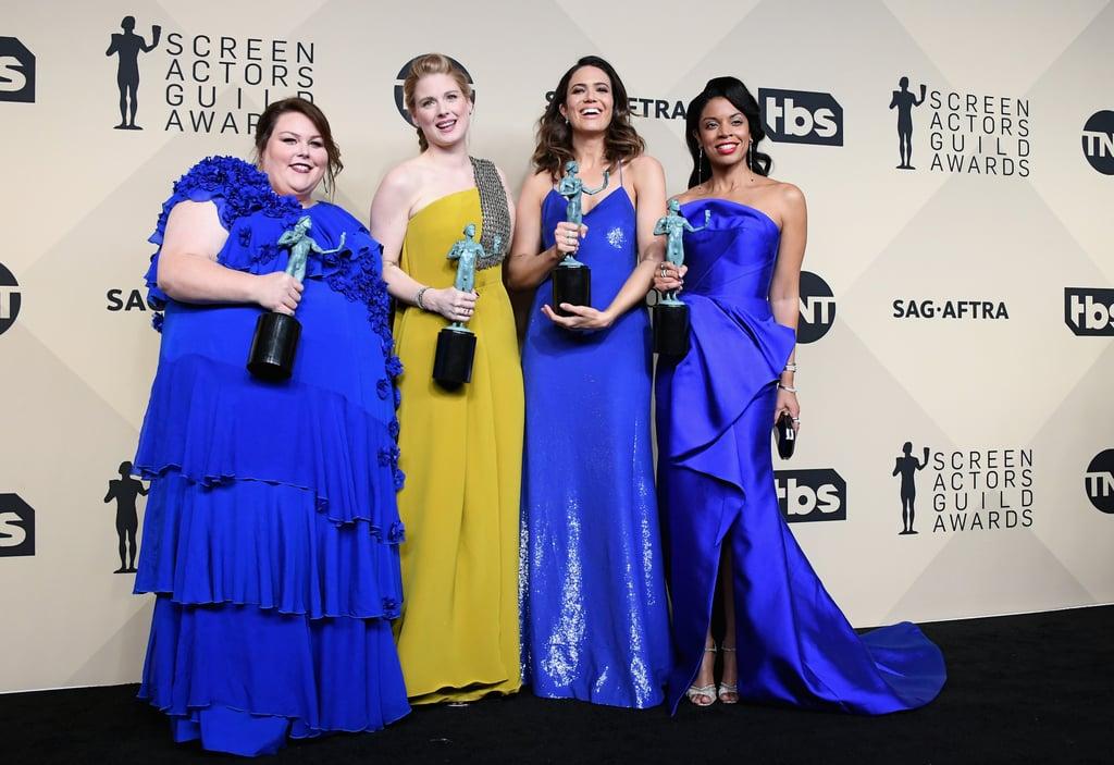 Chrissy Metz, Alexandra Breckenridge, Mandy Moore, and Susan Kelechi Watson