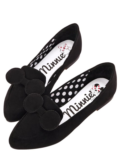 Minnie Mouse Bow Tie Loafers in Black ($48)