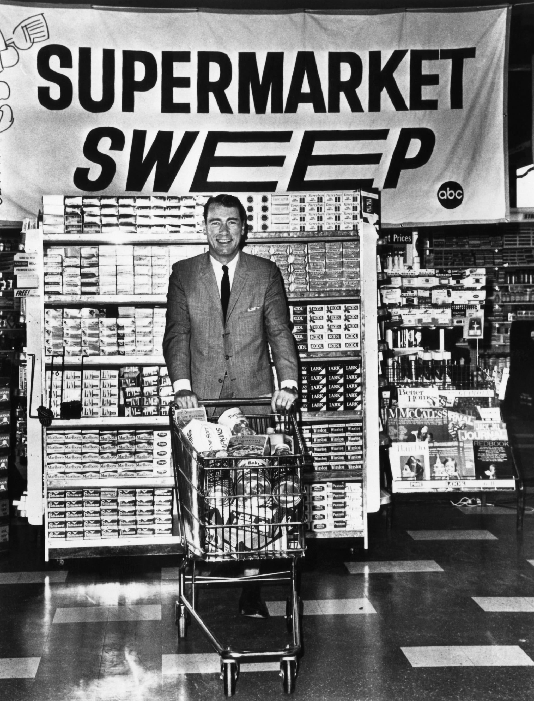 SUPERMARKET SWEEP, host Bill Malone, ABC-TV, 1965-1967