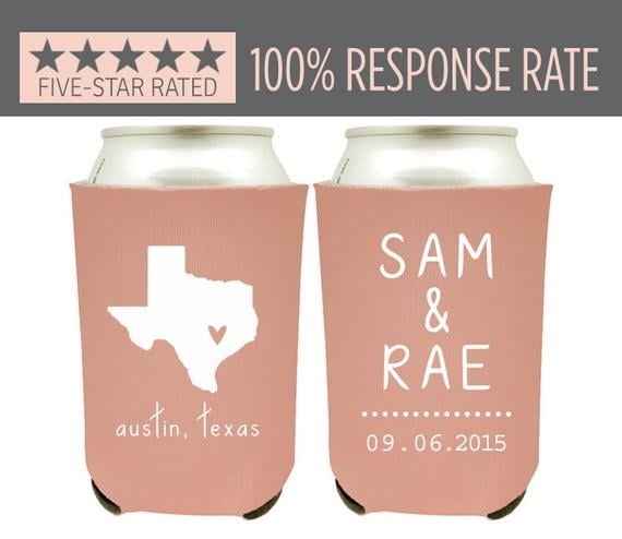 Personalized State Pride Can Coolers