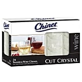 Chinet Cut Crystal Stemless Wine Glasses