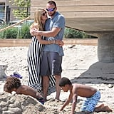 Heidi Klum and Martin Kristen spent Sunday at the beach in LA with her kids, Leni, Henry, Johan, and Lou Samuel.