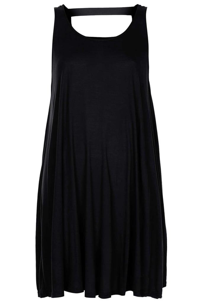 Topshop black mini trapeze dress ($36)