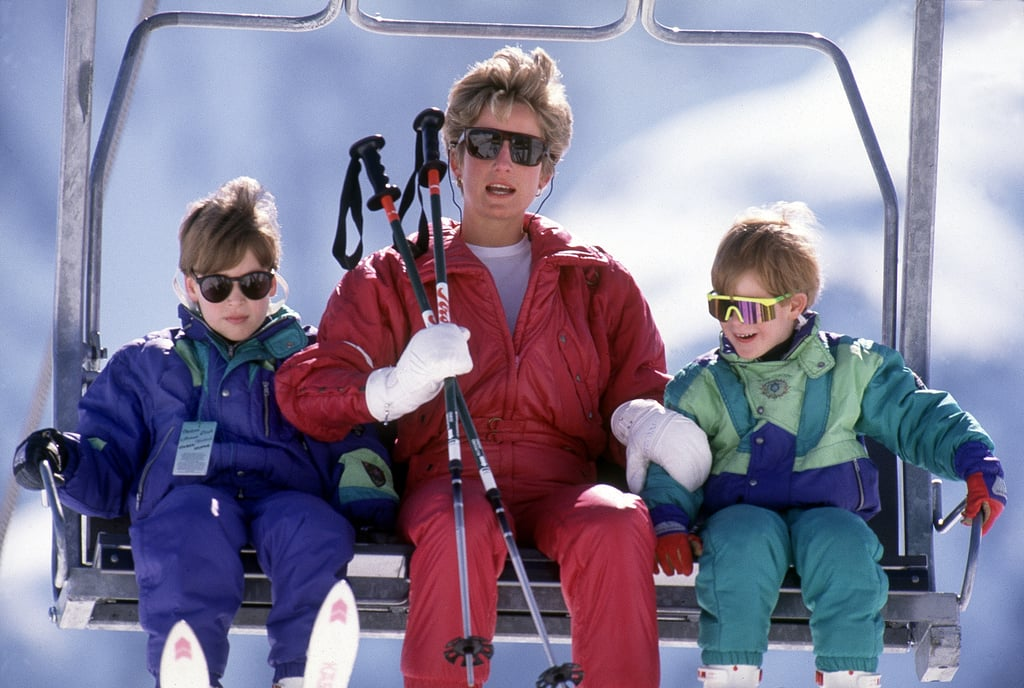 Diana, William, and Harry on a Ski Holiday, 1991