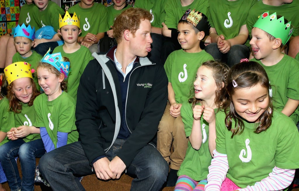 When He Clowned Around With a Group of Schoolchildren in New Zealand