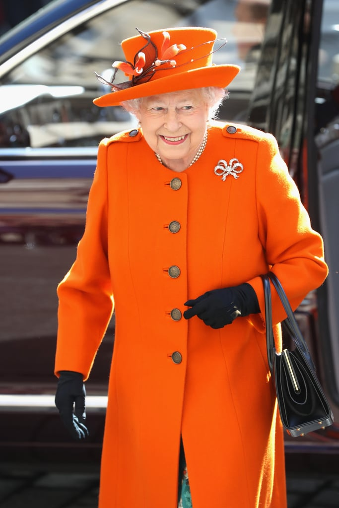 Queen Elizabeth is famous for wearing bright colours on her public engagements, and she has a very good reason for doing so. Sporting bold hues means that she's easily spotted in a crowd, and that was definitely the case on Tuesday morning when the British monarch made a trip to London's Royal Academy of Arts sporting a particularly eye-catching bright orange outfit. She was there to mark the completion of redevelopment works at the historic building, which celebrates its 250th anniversary this year.  While there, the queen got to rub shoulders with her predecessors; the academy is currently hosting an exhibition dedicated to another British royal who was a known patron of the arts, Charles I. As she perused the works, we were treated to some of her majesty's famous facial expressions. Perhaps her taste in art is a little different to those who came before her?      Related:                                                                                                           16 of the Most Unexpectedly Funny Things Queen Elizabeth II Has Ever Said