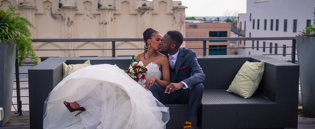 We Love How This Couple Pregamed With Champagne on a Rooftop Before Eloping at City Hall